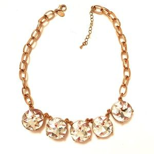 Rose gold & rhinestone necklace from Express.